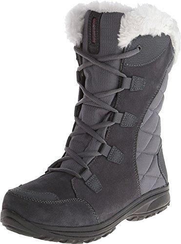 - Columbia Women's ICE Maiden II Snow Boot, Shale, Dark Raspberry, 10.5 B US