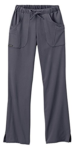 Classic Fit Collection by Jockey Women's Next Generation Elastic Drawstring Waist Scrub Pant (Charcoal, ()