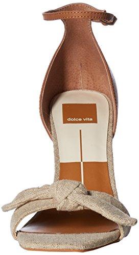 Dolce Vita Women's Helana Heeled Sandal Natural Linen Zd0rp