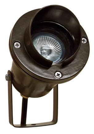 1 Light Directional Landscape Spotlight with Hood Finish: Bronze