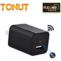 Tonut Mini Charger Camera USB Wall Adapter 1080P HD Home Office Security Nanny Cam