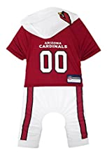 NFL Arizona Cardinals Pet Onesie, Size Large. Cutest Pet Outfit for Any Pet, Any Occasion!