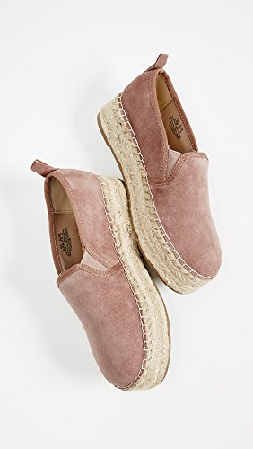 Edelman Sneaker Slip Carrin Women's Rose On Dusty Suede Espadrille Platform Sam axqd07pa