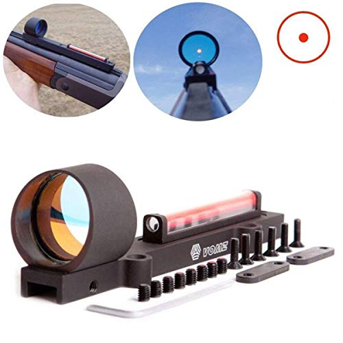 None Hunting Red Dot Red Fiber Holographic Scope Sight Dot Sight Ultralight for Shotgun Rib Rail Rifle Hunting