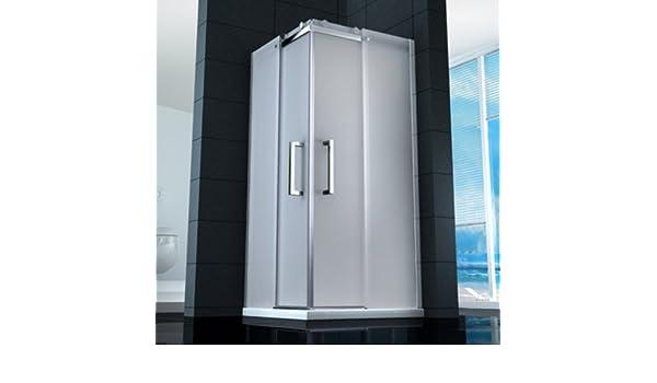 Cabina Box ducha angular puertas correderas cristal transparente ...