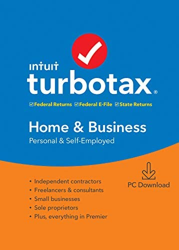 TurboTax Home & Business + State 2019 Tax Software [Amazon Exclusive] [PC Download] [Old Version]