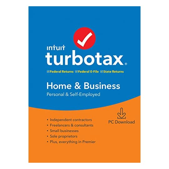 [Old Version] TurboTax Home & Business + State 2019 Tax Software [PC Download]