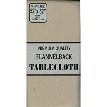 Carnation Home Fashions Vinyl Tablecloth With Polyester Flannel Backing, 52  Inch, By 90