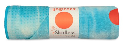 Yogitoes Skidless Premium Mat-Size Yoga Towel, Sky Taffy