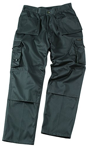 TuffStuff 711/BK-38R 38-Inch Width 30-Inch Length 30-Inch Leg Regular Pro Work Trouser - Black by Tuff Stuff by Castle Clothing Ltd