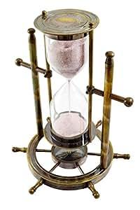 Hourglass on a Ship Wheel - Egg Timer Hour Glass Kitchen Timer Sand Timer Clock