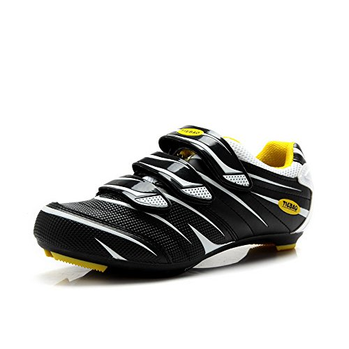 Tiebao Road Cycling Schuhe Lock Pedal Fahrradschuhe Cleated Fahrrad ciclismo Schuhe Weiß