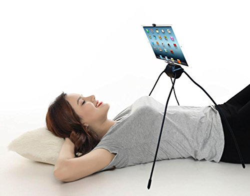 Giosio Tablet Stand Holder for Kitchen, Bed, Sofa, Bathroom, Indoor, Outdoor, Adjustable for Any Tablet, Cell Phone Flexible Bendable Spider Legs for Any Even or Uneven Surface