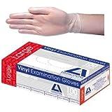 Livingstone Vinyl Examination Gloves 6.0, Powder Free, Large, Clear, 100 per Box
