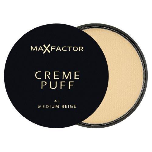 Max Factor Creme Puff Compact Powder - 41 Medium Beige by Max Factor (English Manual)