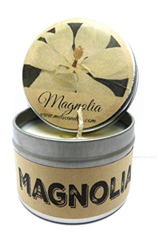 Magnolia 4oz All Natural Soy Candle Tin Hand Made in Mo