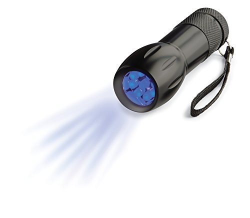 Blacklight Flashlight – UV Blacklight Flashlight, Pet Urine & Stain Detector, Spot Counterfeit Money, 9 Bright LED lights
