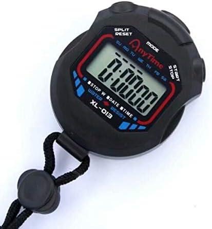 HANBIN Cron/ómetro Deportivo Digital Contador Cron/ómetro Alarma Cron/ógrafo LCD de Mano Temporizador Black