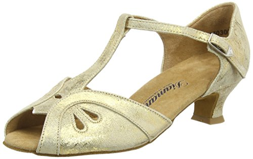 Diamant - Womens Dance Shoes 019-011-017 Gold Magic Leather 7.5B(M) US by Diamant