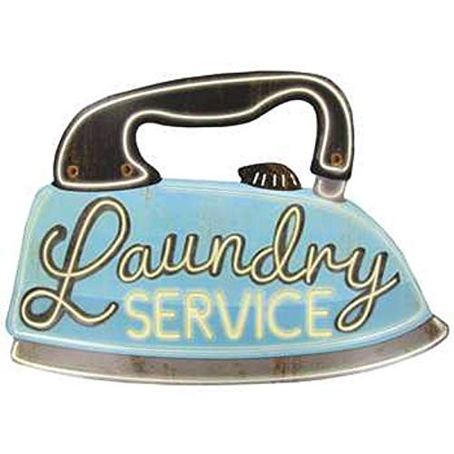 LAUNDRY SERVICE Irregular Vintage Tin Sign Bar Pub Home Cafe Restaurant Store Metal Wall Decor
