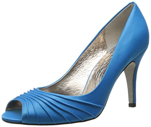 Blue Women's Classic Dress Papell Farrel Spring Pump Adrianna Satin xYqB50Pt