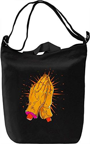 Pray Borsa Giornaliera Canvas Canvas Day Bag| 100% Premium Cotton Canvas| DTG Printing|