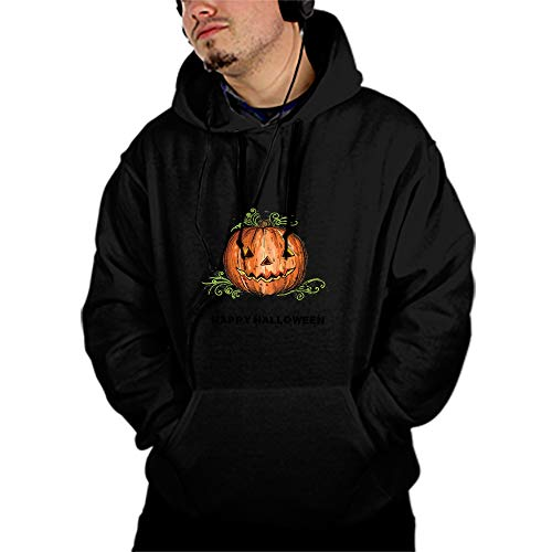 Hand Drawing Halloween Pumpkin Teen Full Sleeve Pullover Patched Hooded Sweatshirt Pockets Tops]()