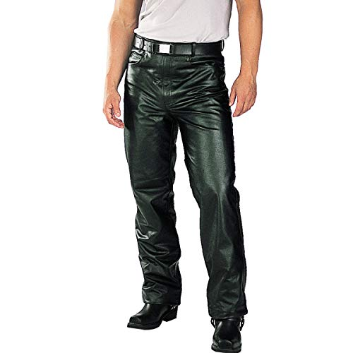 Xelement B7400 'Classic' Men's Fitted Leather Pants - 38