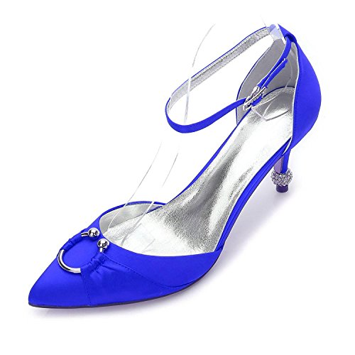 Party Mariage Stiletto De Femmes Heel Evening Robe 17767 High Mariée Blue Fall Des yc Summer L Comfort 25 Satin En amp; 5Tv6q6gw