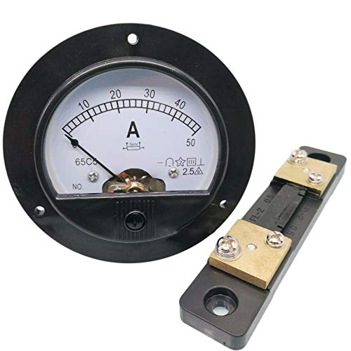 DC 0~50A Analog AMP Current Pointer Needle Panel Meter Ammeter and Shunt