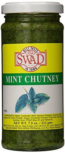 Swad Mint Chutney 7.5 Oz (Pack Of 12)