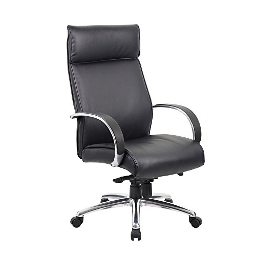 Peck High Back Conference Chair with Aluminum Arms Dimensions: 27