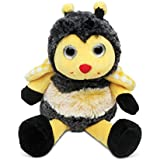 "Puzzled Sitting Bee Super Soft Stuffed Plush Cuddly Animal Toy - Insects Collection - 7"" INCH - Unique huggable loveable New friend Gift - Item #5017"