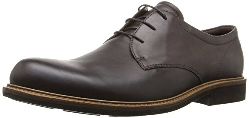 ECCO Men's Findlay Plain Toe Tie Oxford,Coffee,43 EU/9-9.5 M US