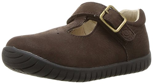 Stride Rite Girls' SRTech Lindsay Mary Jane Flat, Brown, 9 M US Toddler