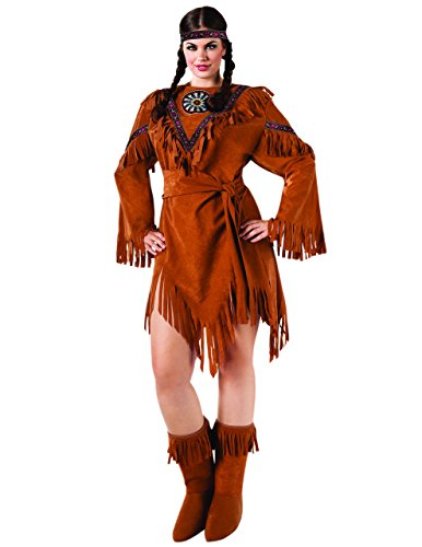 Sunset Intimates Indian Princess Costume, Plus Size (Indian Costume Boots)