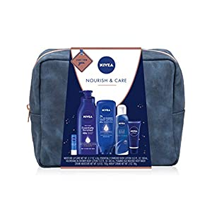 Best Epic Trends 415G%2B76wRsL._SS300_ NIVEA Pamper Time Gift Set - 5 Piece Luxury Collection of Moisturizing Products and Travel Bag Included