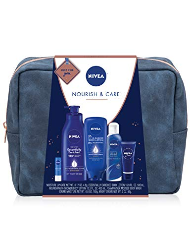 415G%2B76wRsL - NIVEA Pamper Time Gift Set - 5 Piece Luxury Collection of Moisturizing Products and Travel Bag Included
