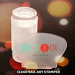 Amazon.com : Clear Nail Art Stamper Jelly Stamping Clear