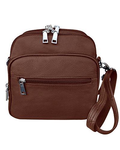 Cross Roma Brown Carry Men Gun Purse amp; body Bag Square Leathers Leather Women Conceal qtBrtg