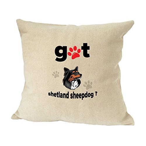 (SHETLAND SHEEPDOG Got Sofa Bed Home Decor Faux Linen Pillow Cover RENJUNDUN)