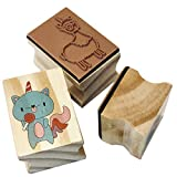 Hapinest Unicorn and Friends Wooden Stamp and