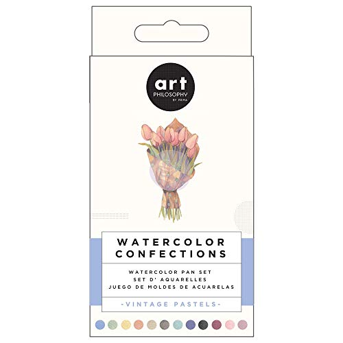 Prima Confections Watercolor Pans Set Of 12 - Vintage Pastel