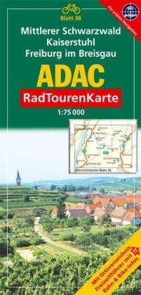 Mittlerer Schwarzwald, Kaiserstuhl, Freiburg im Breisgau: 1:75000 (ADAC RadTourenKarte)