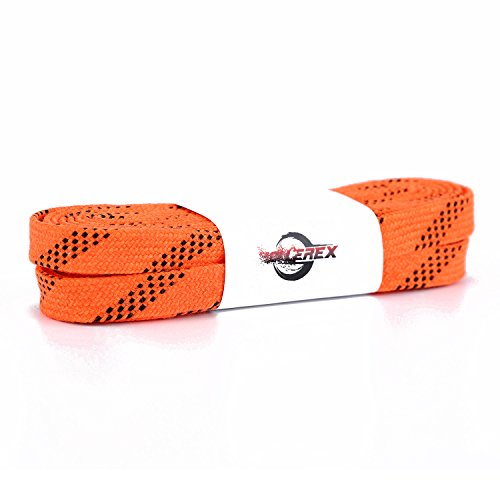 axed Hockey Skate Laces (Multiple Size and Color Options) (Highlight Orange, 96