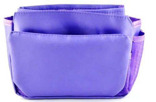 Periea Organizzatore da borsetta ,Insert, Liner 9 tasche 20x16x7cm - Tegan Viola