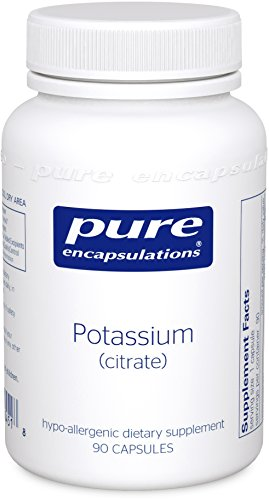 Pure Encapsulations - Potassium (Citrate) - Hypoallergenic Supplement to Support Nerves, Muscles, Blood Flow, and Cardiovascular Health* - 90 Capsules