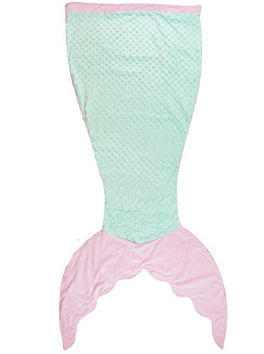 PoshPeanut Mermaid Tail Blanket Minky and Mermaid Blanket for Teens, Super Soft For All Seasons and Occassions Sleeping Blankets, 56