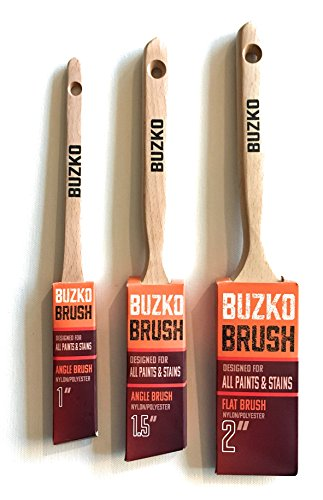 Polyester Varnish - BUZKO Professional Paint Brush Set, 3 Pieces, 1