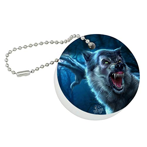 Foam Werewolf - Graphics and More Crazy Scary Werewolf Monster Round Floating Foam Fishing Boat Buoy Key Float Keychain
